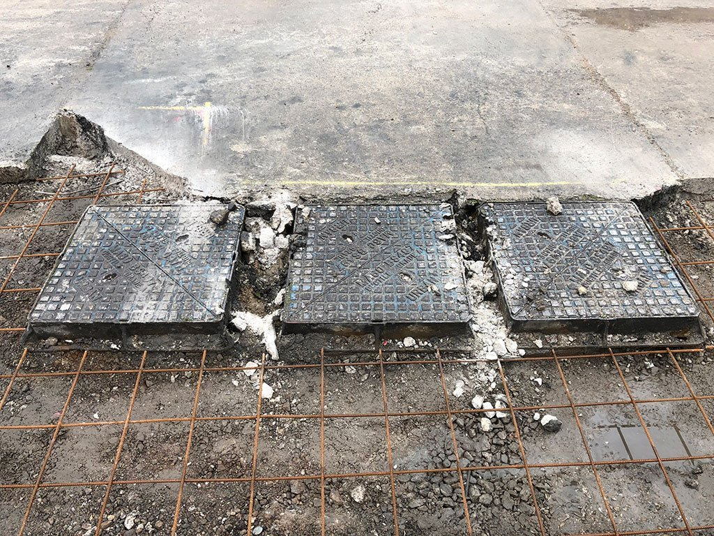 Three drain covers