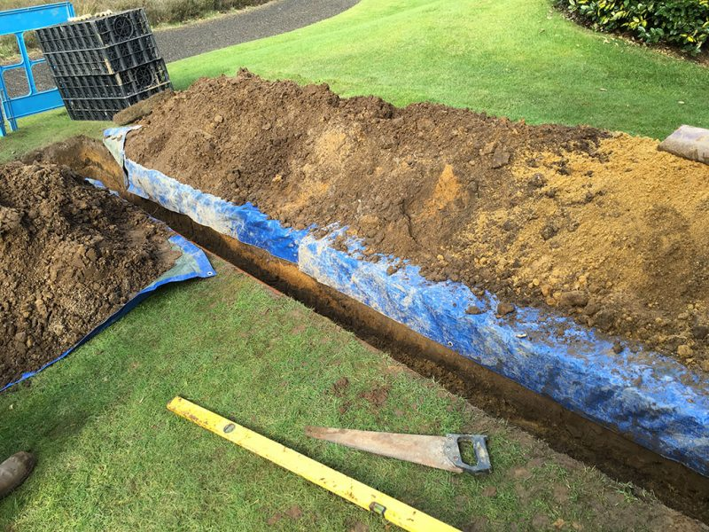Trench dug out for new pipe work